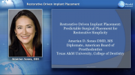 Restorative Driven Implant Placement: Predictable Surgical Placement for Restorative Simplicity Webinar Thumbnail