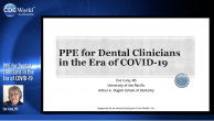 PPE for Dental Clinicians in the Era of COVID-19 Webinar Thumbnail